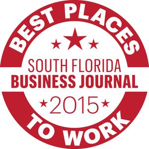 South Florida Business Journal 2015 Best Places to Work